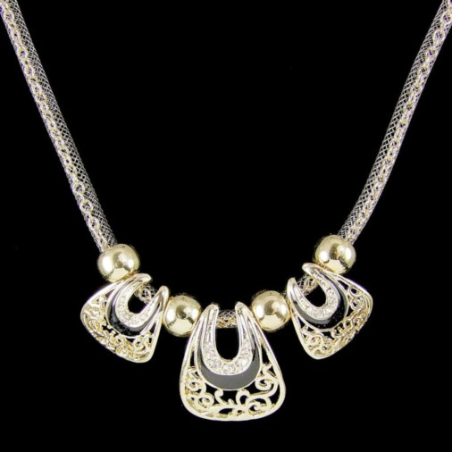 Cora Trio Fashion Necklace Gold/Black