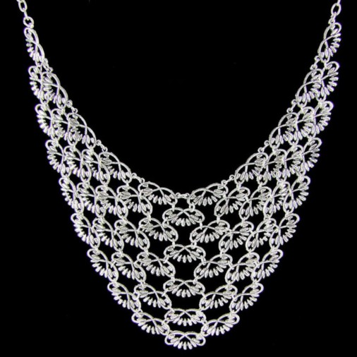 Evita Mesh Fashion Necklace Silver