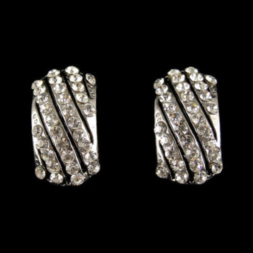 Sparkling Fashion Earrings (Clip On)
