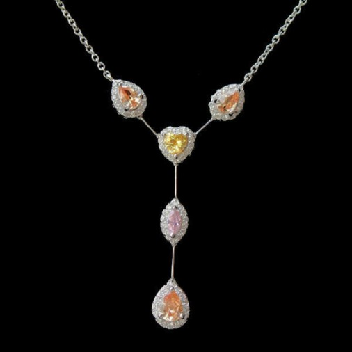 Multicolour CZ Necklace