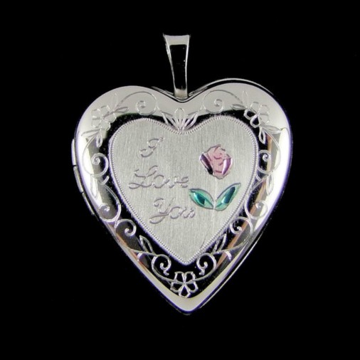 Sterling Silver I Love You Locket