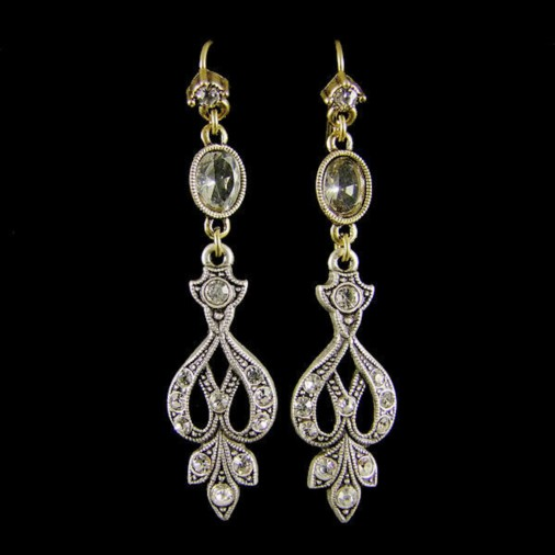 Regina Crystal Vintage Style Earrings