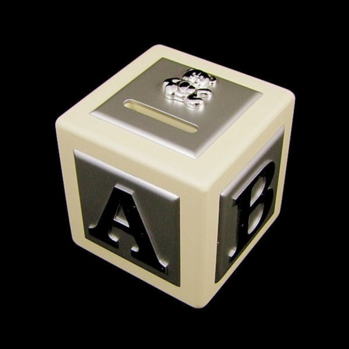 Button Corner ABCD Teddy Money Box