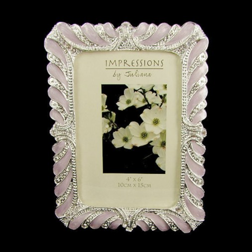 Impressions Silver plated Photo Frame Feather 4x6