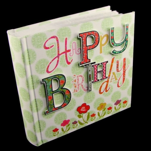 Laura Darrington Patchwork Album Happy  Birthday 6x4
