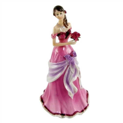 Juliana English Rose Figurine With Pink Bouquet Natasha