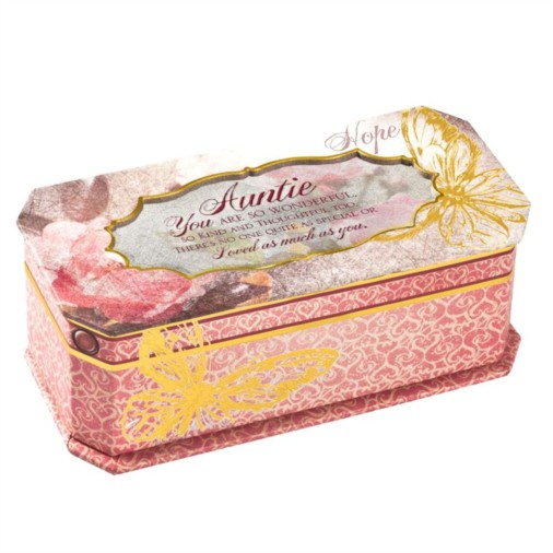 Cottage Garden Butterfly Musical Jewellery Box - Auntie