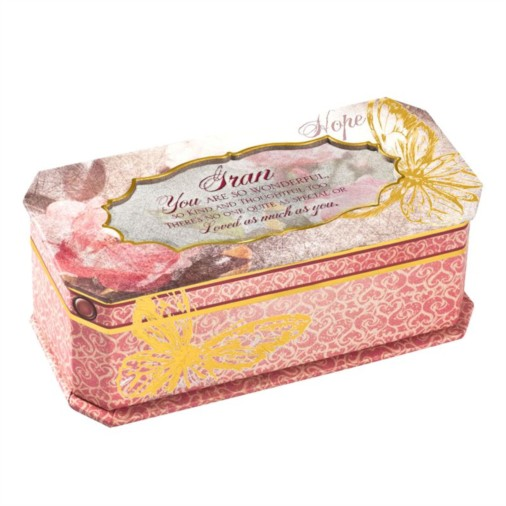 Cottage Garden Butterfly Musical Jewellery Box - Gran