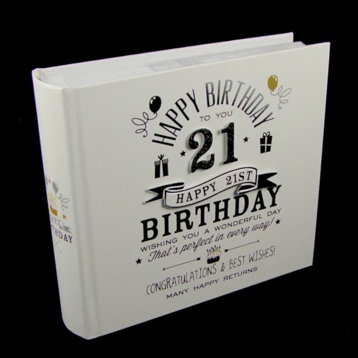 Signography Photo Album 4x6 21st Birthday