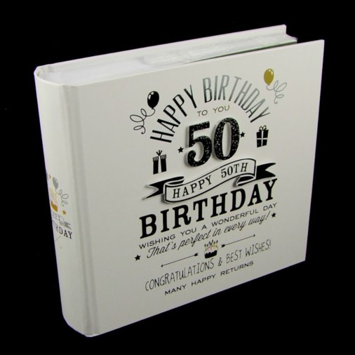 Signography Photo Album 4x6 50th Birthday