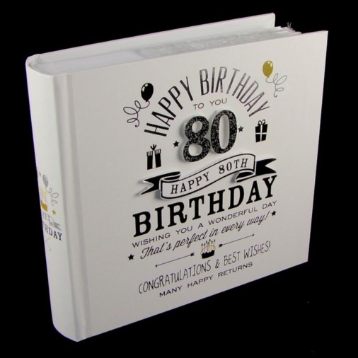 Signography Photo Album 4x6 80th Birthday