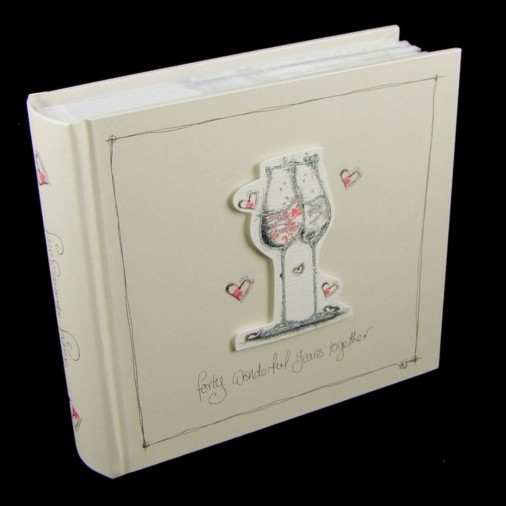 Tracey Russell Coffee & Cream Photo Album 4x6 40th Anniversary