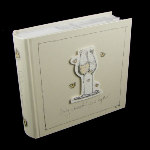 Tracey Russell Coffee & Cream Photo Album 4x6 60th Anniversary