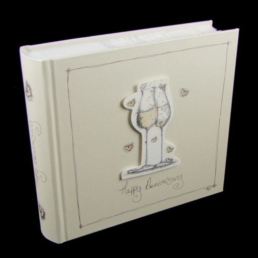 Tracey Russell Coffee & Cream Photo Album 4x6 Happy Anniversary