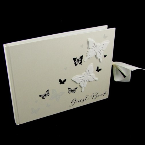 Wings of Love Butterfly Paperwrap Guest Book