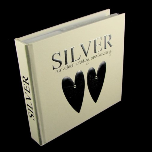Photo Album & Keepsake Box Silver Anniversary