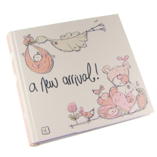Tracey Russell Polka Dot Photo Album 6x4 A New Arrival (Girl)