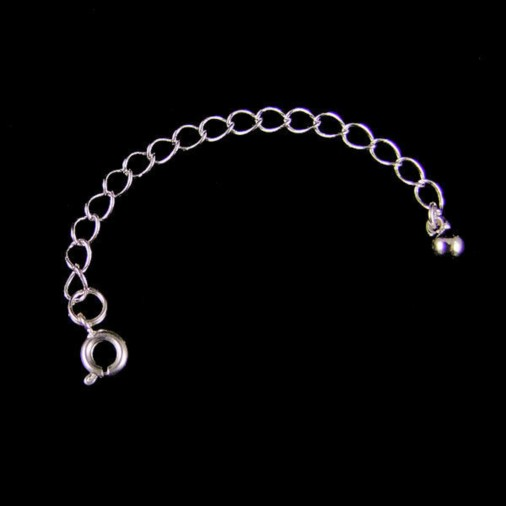 Necklace Extender Spring Ring 9cm (Silver Plated)