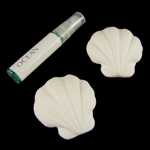 Ocean 2  Part Scented Shell Set - Scallop Shell