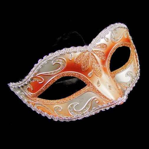 Masquerade Metallic Eye Mask Bronze/Silver