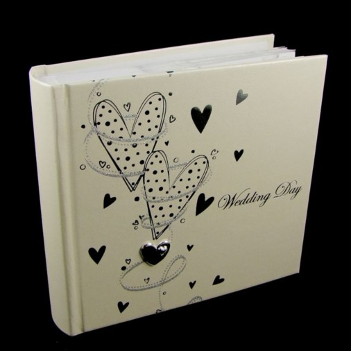 Wedding Hearts Photo Album 6x4