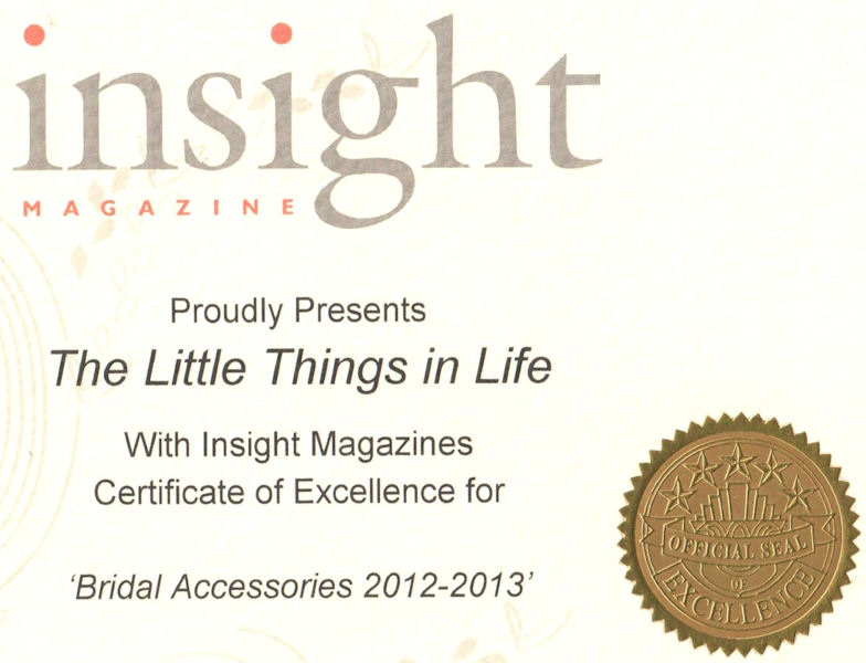 Insight Magazine award 2012-2013